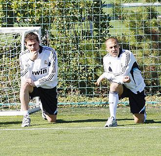 Casillas y Cannavaro no trabajaron este jueves en Valdebebas junto a sus compa�eros