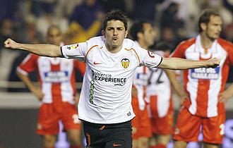David Villa celebrando un gol
