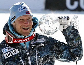 Aksel Lund Svindal con el Globo de Oro