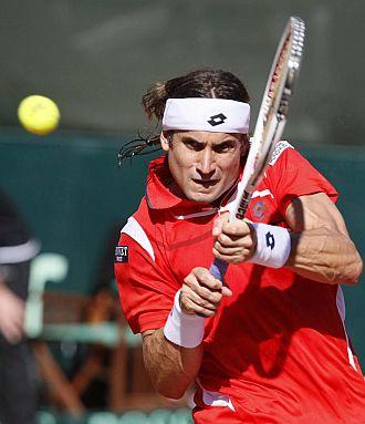 David Ferrer en la Copa Davis.
