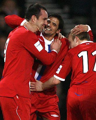Nacho Novo celebra un gol.