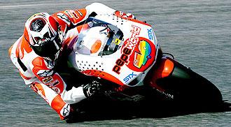 H�ctor Barber� se entrena a los mandos de su Aprilia en el circuito de Estoril.