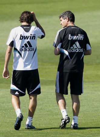 Ra�l y Juande, en un entrenamiento.