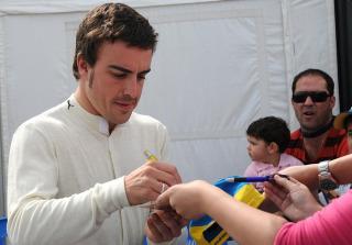 Alonso, durante los �ltimos test de Jerez.