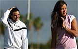 Nadal e Ivanovic jugando al golf