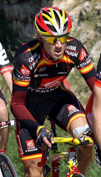 Valverde durante la cuarta etapa.