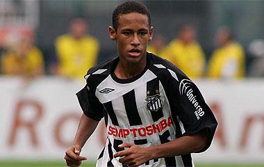 Neymar, durante un partido.