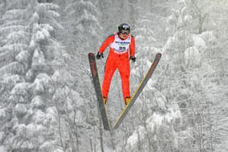 La estadounidense Lindsey Van durante el 'FIS Nordic World Championships' en Liberec.