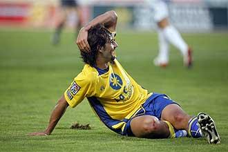 Marcos M�rquez se lamenta durante el partido contra el Xerez