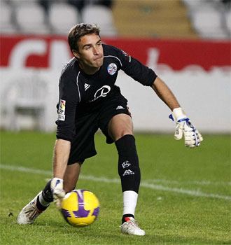 Alberto Cifuentes fue uno de los protagonistas del partido al pararle un penalti a Rub�n Castro.