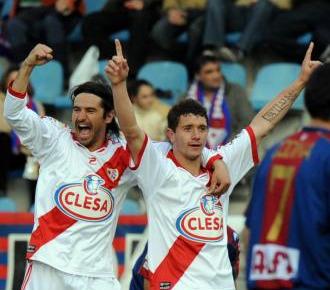 Piti celebra su gol al Eibar.