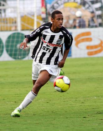 Neymar, en un partido con el Santos