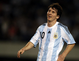 Messi, en el partido ante Venezuela