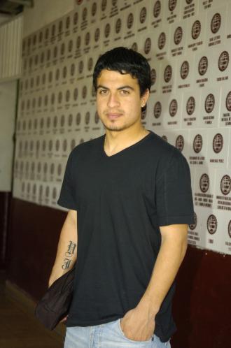 Marcos Aguirre, tras un entrenamiento.