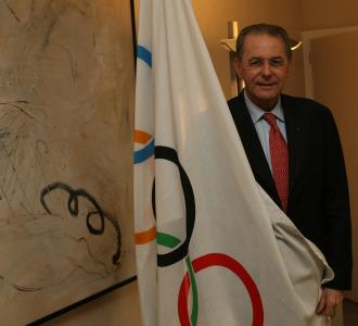Jacques Rogge en su despacho de Lausana.