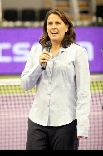 Conchita Mart�nez durante su estancia en el WTA Tour Championships del 2007.