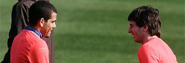 Alves y Messi