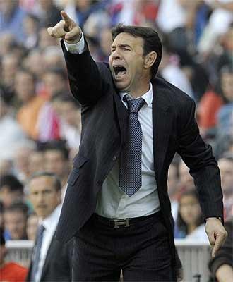 Abel Resino durante el partido ante Osasuna