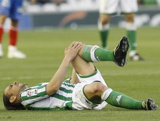 Sergio Garc�a en el momento de la lesi�n