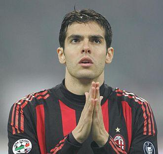 Kak�, concentrado, antes de un partido del Milan.