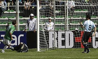 Zanetti fue part�cipe en la debacle de Argentina ante Bolivia.