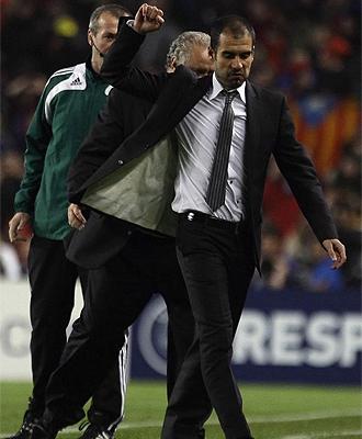 Pep Guardiola, durante el partido ante el Bayern