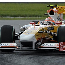 Nelson Piquet, durante la segunda sesi�n de Malasia