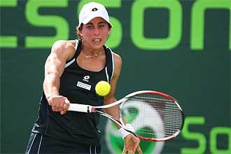 La tenista Carla Su�rez durante un partido