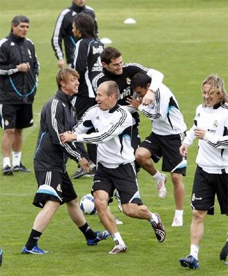 El Real Madrid se entrena con el Valladolid en mente.