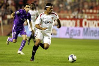 Luis Prieto durante el partido ante el Sevilla.
