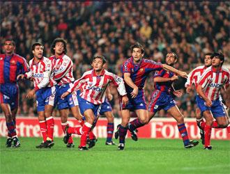El Bar�a remont� ante el Atl�tico un 0-3 en la Copa del Rey de 1997