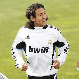 Dani Parejo, durante un entrenamiento con el Real Madrid.