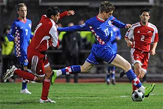 Klasnic, en un partido con su selecci�n frente a Andorra.