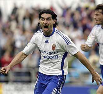 Ayala celebra el gol ante el N�stic