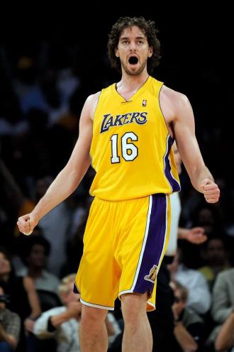 Pau Gasol, en acci�n con Los Lakers.