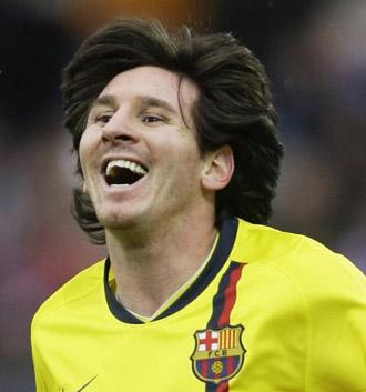 Messi durante un partido