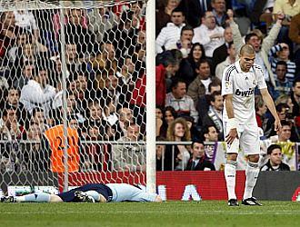 Pepe, desolado, junto a Casillas, tras el 1-2 del Getafe.