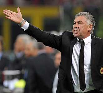 Ancelotti durante un partido.
