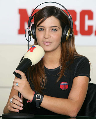 Sara Carbonero, cuando trabajaba en Radio MARCA.