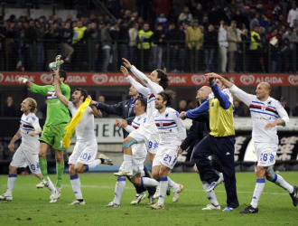 La Sampdoria celebra su pase a la final
