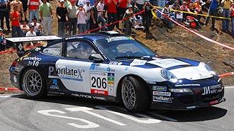 Vallejo, en acci�n en el Rally Islas Canarias.