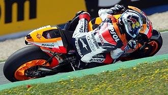 Dani Pedrosa pilota su Honda en Jerez.