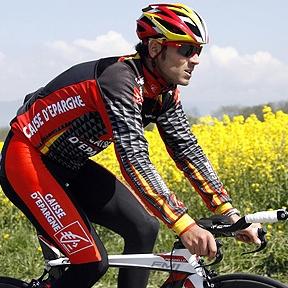 Valverde durante una carrera