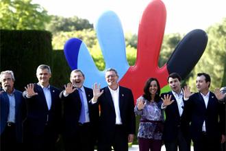 El mundo de la pol�tica madrile�a se une para apoyar la candidatura de Madrid 2016.