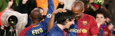 Etoo, Messi y Henry