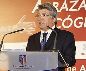 Enrique Cerezo, presidente del Atl�tico de Madrid, durante un acto p�blico.
