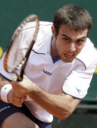 Marcel Granollers durante un partido en Montecarlo.