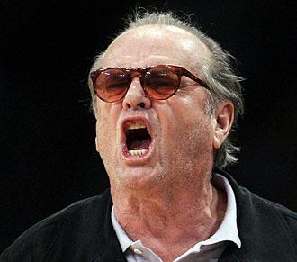Jack Nicholson durante el partido entre Lakers y Rockets