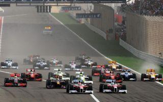 Imagen de la salida del G. P. de Bahrein