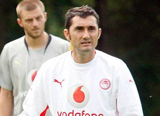 Valverde, en un entrenamiento